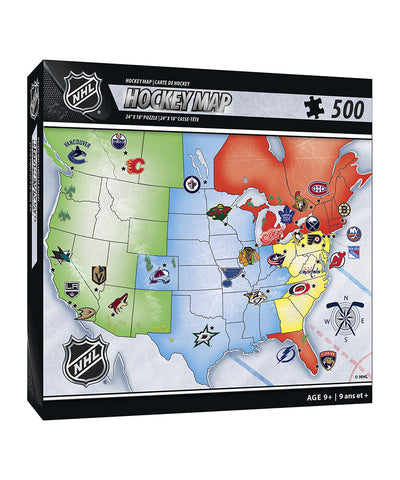 NHL MAP PUZZLE BOARD GAME