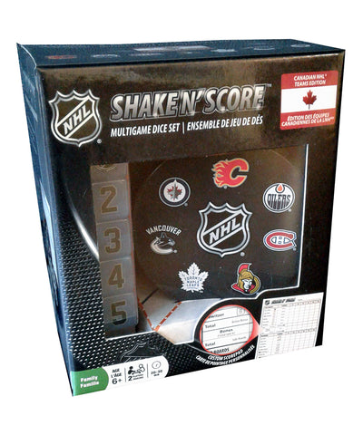 NHL CANADIAN TEAMS SHAKE N SCORE BOARD GAME