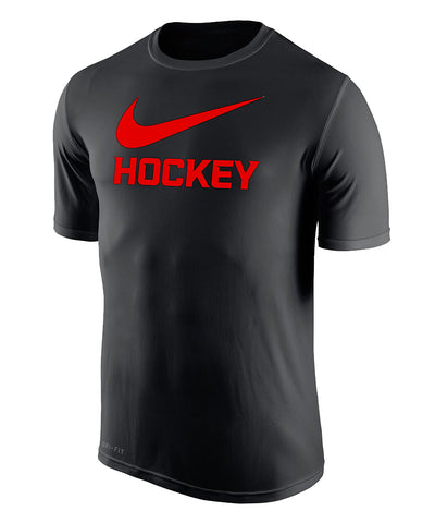 NIKE MEN'S DRI-FIT LEGEND 2.0 HOCKEY T SHIRT - BLACK
