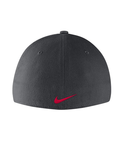 NIKE MEN'S DRI-FIT HOCKEY SWOOSH FLEX HAT - GREY
