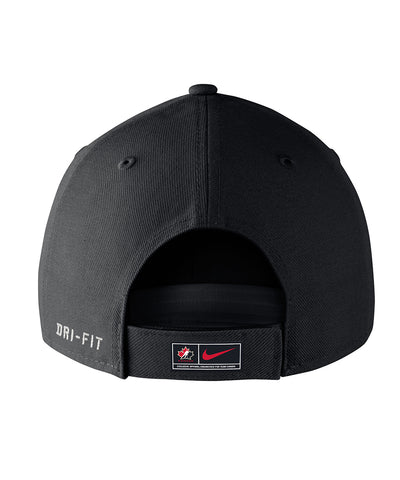 NIKE TEAM CANADA DRI-FIT WOOL SR ADJUSTABLE CAP - BLACK