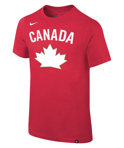 NIKE TEAM CANADA KIDS CORE COTTON HERITAGE T SHIRT