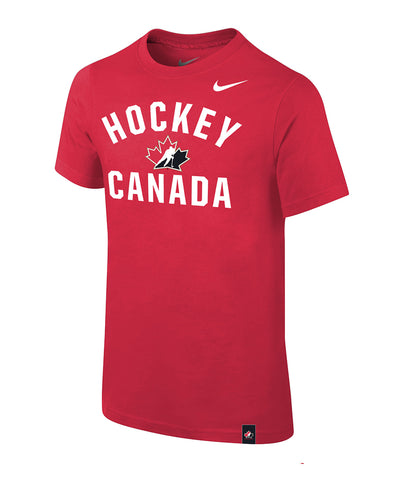 NIKE TEAM CANADA KIDS CORE COTTON T SHIRT - RED