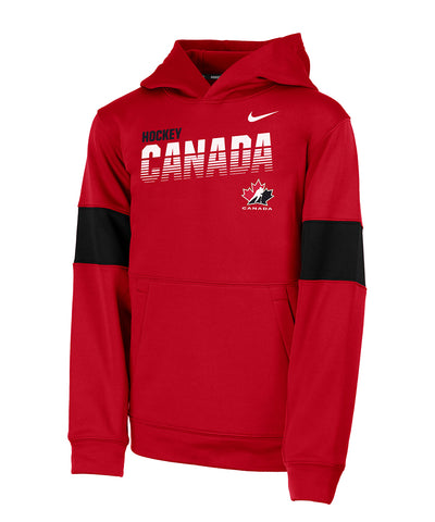 NIKE TEAM CANADA KIDS THERMA PO HOODIE - RED