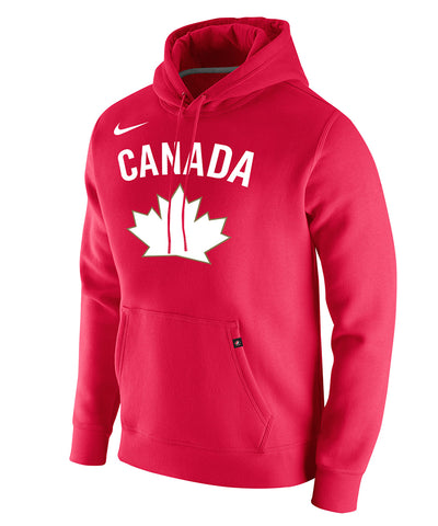 NIKE TEAM CANADA MEN'S CLUB FLEECE PO HERITAGE HOODIE