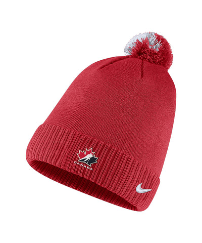 NIKE TEAM CANADA MEN'S SIDELINE CUFFED POM TOQUE