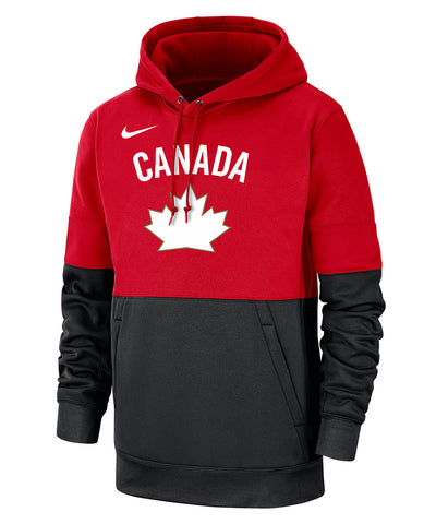 NIKE TEAM CANADA MEN'S THERMA PO HERITAGE HOODIE