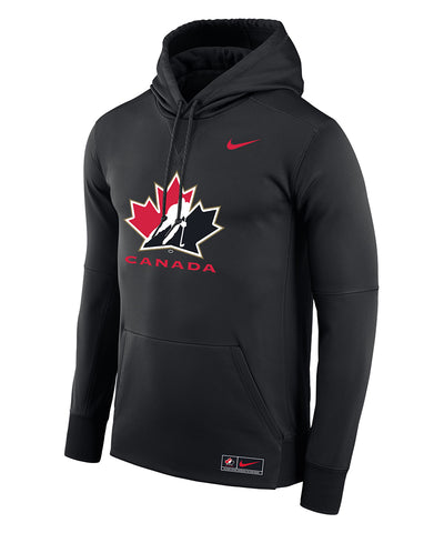 NIKE TEAM CANADA MEN'S THERMA PO HOODIE - BLACK