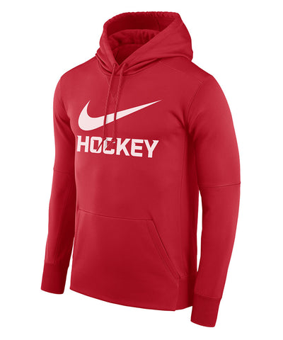 NIKE THERMA PO HOCKEY MEN'S HOODIE - RED