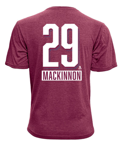 NATHAN MACKINNON COLORADO AVALANCHE LEVELWEAR MEN'S  NAME & NUMBER T SHIRT