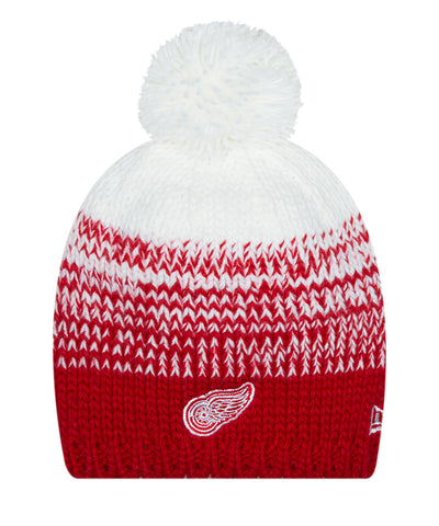 DETROIT RED WINGS NEW ERA POLAR DUST WOMEN'S KNIT BEANIE
