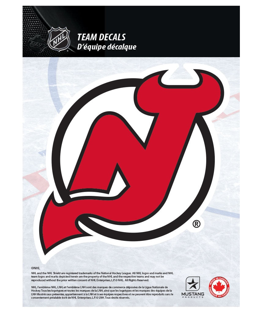 "new jersey devils 5"" x 7"" nhl team decal – pro hockey life"