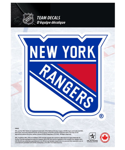"NEW YORK RANGERS 5"" X 7"" NHL TEAM DECAL"