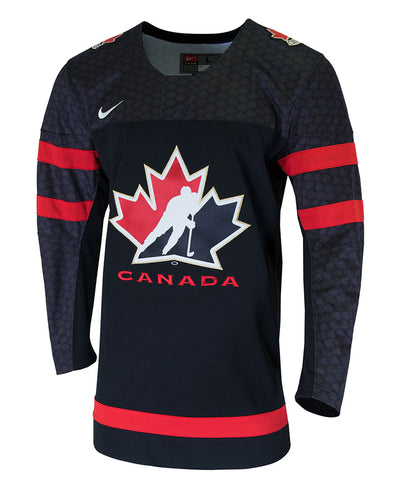 NIKE TEAM CANADA TWILL HOCKEY BLACK SR JERSEY