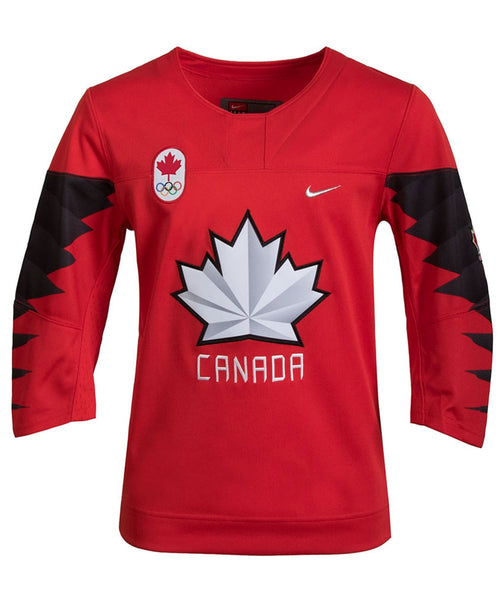 new product 07010 9ea0e NIKE TEAM CANADA 2018 OLYMPICS KID'S RED JERSEY