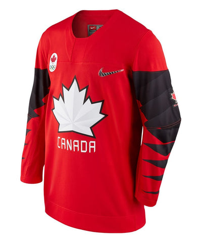 Nike Team Canada 2018 Olympics Mens Red Jersey