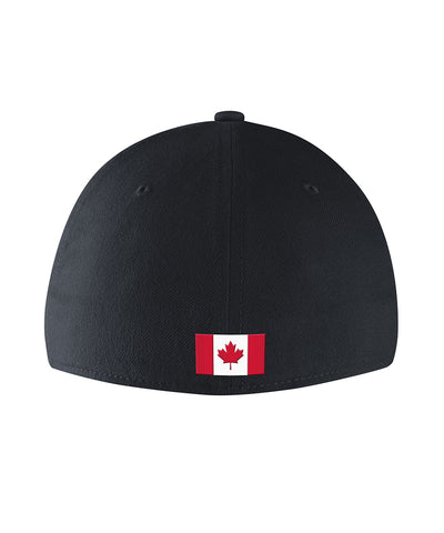 NIKE TEAM CANADA SR DRI FIT SWOOSH FLEX CAP - BLACK