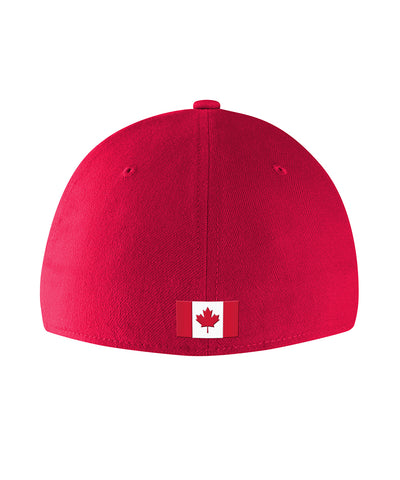 NIKE TEAM CANADA SR DRI FIT SWOOSH FLEX CAP - RED