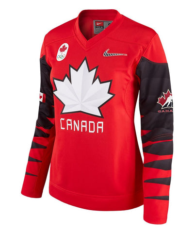 Nike Team Canada 2018 Olympics Womens Red Jersey