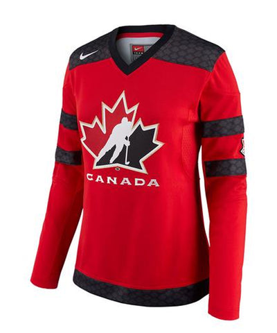 NIKE TEAM CANADA WOMEN'S RED JERSEY