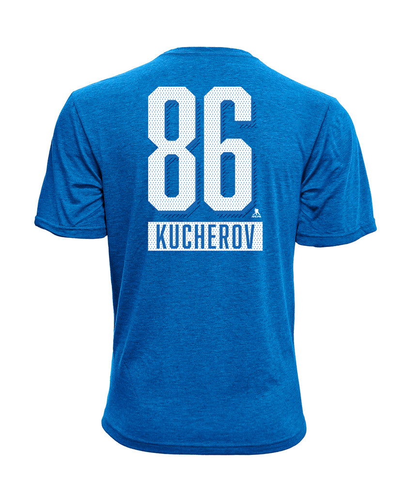 brand new 3caca 9dc29 NIKITA KUCHEROV TAMPA BAY LIGHTNING LEVELWEAR MEN'S NAME & NUMBER T SHIRT