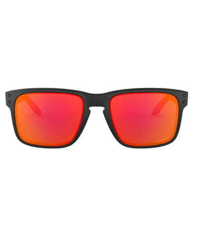 OAKLEY MEN'S HOLBROOK SUNGLASSES - MATTE BLACK PRIZM RUBY