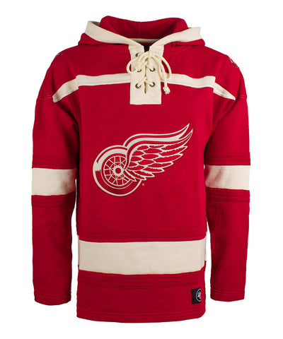 OLD TIME HOCKEY DETROIT RED WINGS SR LACER HOCKEY HOODIE
