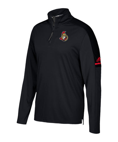 OTTAWA SENATORS ADIDAS MEN'S AUTHENTIC PRO 1/4 ZIP