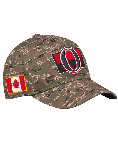 OTTAWA SENATORS ADIDAS MEN'S STRUCTURED FLEX CAMO HAT