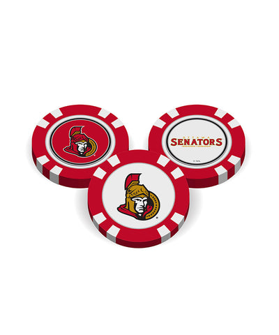 OTTAWA SENATORS GOLF POKER CHIPS