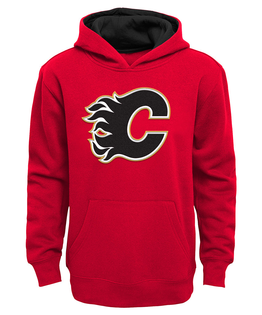 uk availability 57379 219e9 CALGARY FLAMES OUTER JUNIOR PRIME BASIC HOODIE