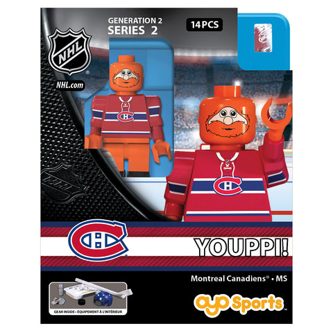 OYO SPORTS MONTREAL CANADIENS MASCOT YOUPPI GEN 2 MINIFIGURE