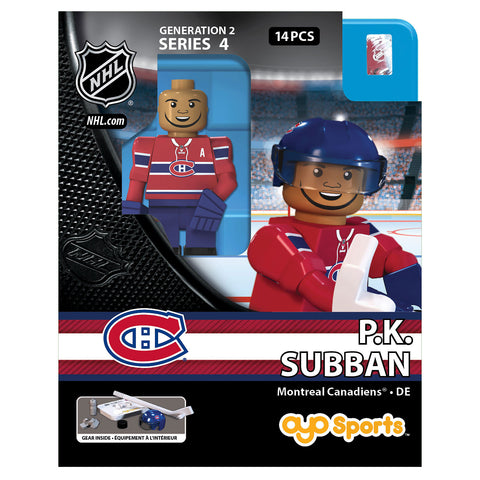 OYO SPORTS MONTREAL CANADIANS HOME SUBBAN GEN 2 MINIFIGURE