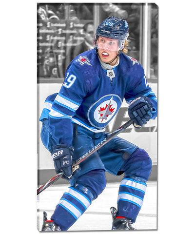 PATRIK LAINE WINNIPEG JETS AUTHENTIC CANVAS PRINT - 14X28