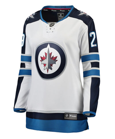 PATRIK LAINE WINNIPEG JETS FANATICS WOMEN'S BREAKAWAY AWAY JERSEY