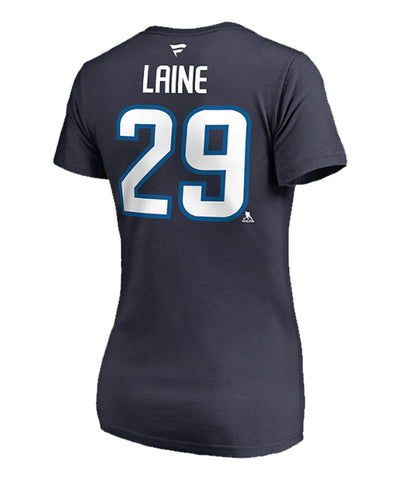 PATRIK LAINE WINNIPEG JETS FANATICS WOMEN'S NAME AND NUMBER T SHIRT