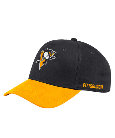 PITTSBURGH PENGUINS ADIDAS MEN'S STRUCTURED FLEX LEFT CITY HAT