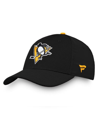 PITTSBURGH PENGUINS FANATICS MEN'S RINKSIDE STRUCTURED STRETCH HAT
