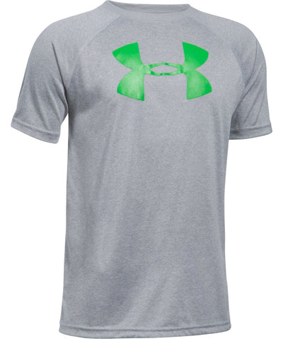 UNDER ARMOUR JR TECH BIG LOGO SS T GREY