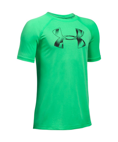 UNDER ARMOUR TECH BIG LOGO KIDS T-SHIRT GREEN