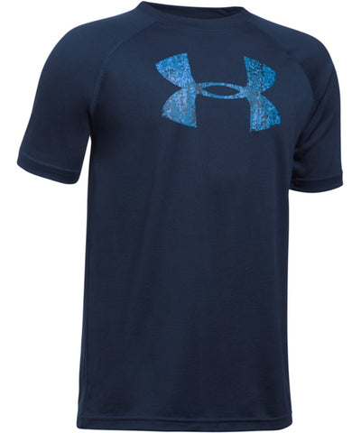 UNDER ARMOUR JR TECH BIG LOGO SS T NAVY