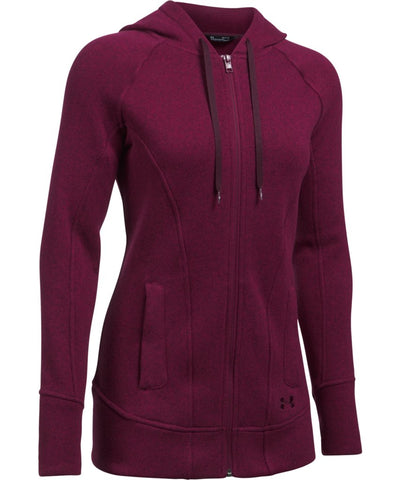 UNDER ARMOUR SR WINTERSWEET FZ HOODY BLACK CURRANT