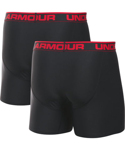 UNDER ARMOUR SR O SERIES 6'' BOXERJOCK 2 PK BLACK