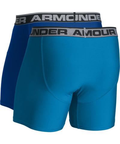 UNDER ARMOUR SR O SERIES 6'' BOXERJOCK 2 PK BLUE