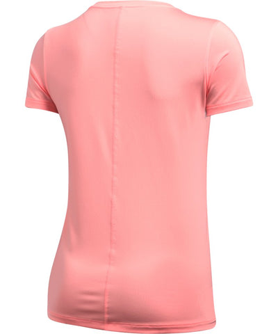 UNDER ARMOUR SR HG ARMOUR SS T-SHIRT PINK