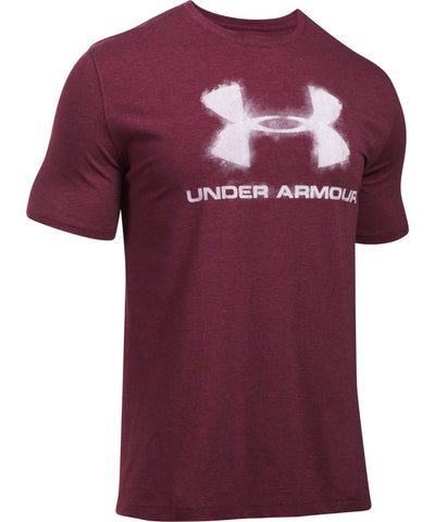 UNDER ARMOUR CHALKED SPORTSTYLE LOGO MEN'S T-SHIRT RED