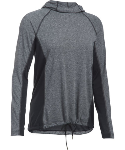 UNDER ARMOUR SR THREADBORNE TRAIN HOOD TWIST BLACK