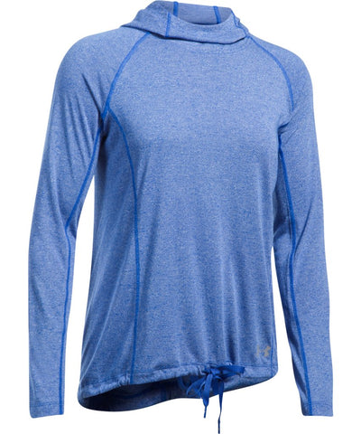 UNDER ARMOUR MEN'S THREADBORNE TRAIN HOOD TWIST BLUE