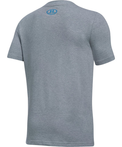 UNDER ARMOUR JR HOCKEY ICON SS T GREY