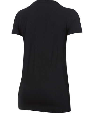 UNDER ARMOUR SR SPORTSTYLE CREW SS T-SHIRT BLACK/WHITE